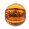 Glass Lamp Bead Round 8mm Topaz/Silver Lined